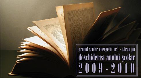 deschiderea anului scolar 2009-2010